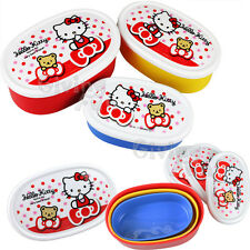 GENUINE Sanrio Hello Kitty Teddy 3 in 1 Bento Lunch Box Food Container Case JP