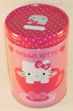 Hello Kitty Tea & Cupcakes Round Tin Bank with Easy-Off Lid NEW Coin Banks Toys