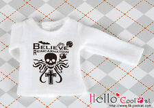 ☆╮Cool Cat╭☆ 【PR-02】Blythe Pullip Doll Printing Tee(Believe)# White