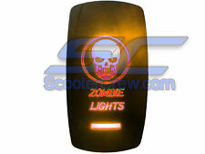 UTV Skull Zombie Lights Rocker Switch Orange Led On Off Toggle Square Dune Sand