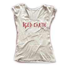 ICED EARTH - Vintage Red Logo - Girlie Girl Damen Woman Shirt - Größe Size L