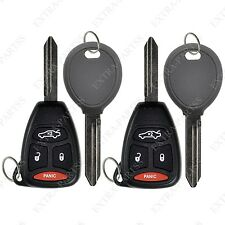 2 New Uncut Replacement Keyless Remote Head Car Fob 4B for Kobdt04a w/ Chip Keys