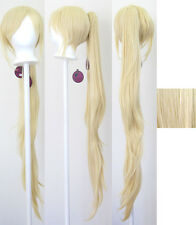 40'' Wavy Claw Clip Pony Tail Flaxen Blonde Cosplay Wig Clip Only NEW