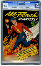 Very Rare Golden Age Comic All-Flash #1 (Summer 1941, DC) CGC 9  NM Near Mint