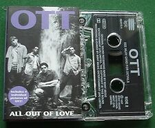 OTT All Out of Love inc Insert with 4 Photos of OTT Cassette Tape Single TESTED