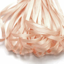 ONE METRE OF SOFT SILK RIBBON, PALE PINK COLOUR, 4 MM WIDE