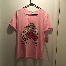 Hello Kitty Cafe Food Truck Pop Up Container PINK T Shirt Size XXL Donut Cupcake