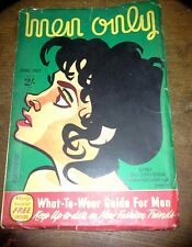 VINTAGE MEN ONLY MAGAZINE JUNE 1957 GINA LOLLOBRIGIDA COVER