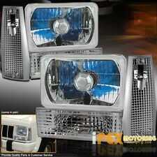 84-96 CHEROKEE Chrome Combo Head Lights + Signal Parking & Corner Marker Lights