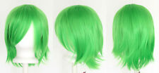 12'' Short Flare Lime Green Cosplay Wig Synthetic NEW