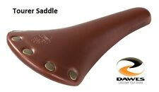 DAWES TOURER HERITAGE BROWN LEATHER LOOK BICYCLE SADDLE