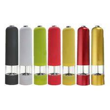 Electric ABS Salt Spice Herb Pepper Mill Grinder Kitchen Gourmet with light E8