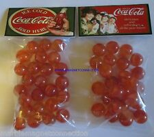 2 BAGS OF DRINK ICE COLD COCA COLA 5 CENTS ADVERTISING PROMO MARBLES
