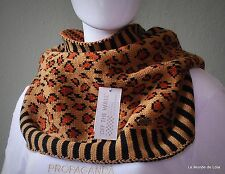 VANS Women's Infinity Scarf Leopard Red Charcoal Grey Black White Stripe NWT !!