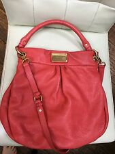 Marc by Marc Jacobs Pink Red Classic Q Hillier Hobo Bag Leather