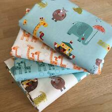 GIRAFFE CROSSING Fat Quarter Bundle Riley Blake fabrics ANIMALS HIPPO ELEPHANT