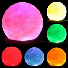 USB Natural Himalayan Salt Lamp Sphere -Round Rock Crystal Multi Colour Changing