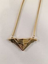 DC Comics Wonder Woman Movie Tiara Stainless Steel Necklace - Shiny Gold