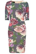 Bnwt Phase Eight /8 Multi Coloured Reka Printed Stretch Jersey Dress Size 14