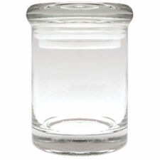 APOTHECARY THICK GLASS HERB & SPICE, KITCHEN JAR AIR TIGHT SUCTION LID