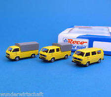 Roco H0 1553 POST-Set VW T3 Bus + Transporter + DoKa Pritsche DBP OVP HO 1:87