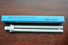 Pack 5 x G23 2 pin twin tube 11w compact fluorescent lamp bulb warm white 830