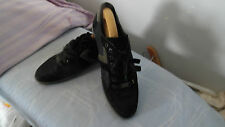 HUGO BOSS BLACK/GREY SUEDE/LEATHER/TEXTILE SNEAKERS SIZE UK 9