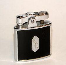 1930's art deco black enamel applique ronson princess automatic petrol lighter