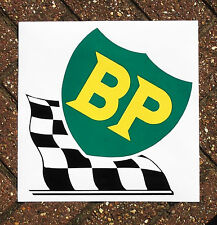 VINYL SELF-ADHESIVE BP CHECKERED FLAG SIGN. 35x35cm.