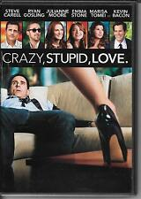 DVD ZONE 2--CRAZY STUPID LOVE--CARELL/GOSLING/MOORE/STONE/TOMEI/BACON