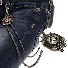 Fashion Men's Brown Star Wallet Chain Biker Trucker Heavy Metal Jean Chain