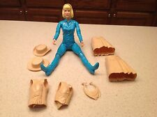 Marx Action Figure Johnny West Series Vintage Blue Jane West W/ 7 Accessories