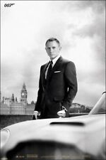 "JAMES BOND SKYFALL laminated POSTER ""DB5"" DANIEL CRAIG AS 007 LICENSED Brand New"