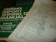 1978 - 1983 MERCEDES-BENZ 230 240 280 300380 450 6.9 WIRING DIAGRAMS SHEETS SET