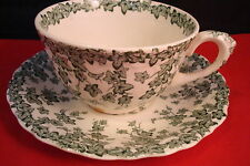 Adaptation of Crown Ducal, England, cup and saucer, green