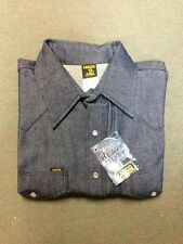Lapco blue denim 10oz work shirt 15'' X 33'' (medium)
