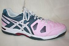 Asics E556Y GEL Game 5 Light Pink Gray Women's Tennis Shoes Size 11  *NO INSOLES