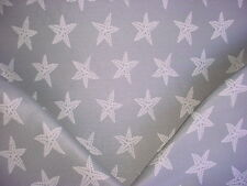 1+y  GREY / WHITE STARFISH BROCADE DRAPERY UPHOLSTERY FABRIC