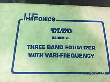 HIFONICS CLEO VII, VARIO-FREQ EQUALIZER Zed Audio, Super Rare Hard To Find.