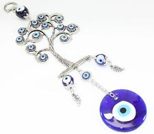 Blue Evil Eye Life Tree Amulet Protection Wall Hanging Decor Blessing US Seller