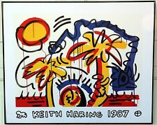 1987 KEITH HARING WALL ART Rare PALM TREE Baby France POP 80s Poster Print MIAMI
