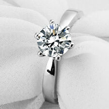 1 Carat Diamond Solitaire Engagement Ring Any Size Platinum never tarnish finish