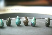 Turquoise Beads, Gemstones, Faceted Stone Beads, Faceted Beads, Tear Drop Beads,