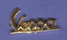 VESPA SCRIPT HAT PIN LAPEL PIN TIE TAC BADGE GOLD #2241