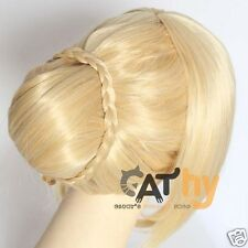 Fate stay night Saber Anime Cosplay Costume Wig Free Shipping + Wig CAP