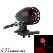 Black LED Tail Light License Plate Holder Brake For Harley XL Cafe Racer Chopper