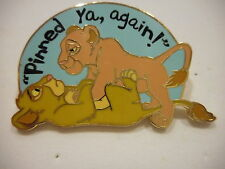 "The Lion King  Simba And Nala Playing ""Pinned Ya, Again""  Disney Pin"