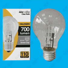 2x 110V 46W=60W Halogen GLS E27 Clear Construction Site Festoon Light Bulb Lamp