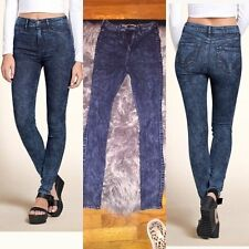 HOLLISTER acid vtg wash denim jeans skinny leggings jeggings stretch boho 7R 7