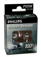 2 AMPOULES PHILIPS SILVER VISION 12V PY21W BAU15S VW GOLF 6 VI CABRIOLET (517)